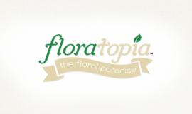 Floratopia Floral / Flower Logo design