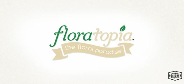 Floral /  logo / branding design, custom typeface logo design.