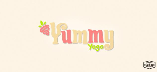 This is a frozen yogurt hand lettering logo graphic design by Milwaukee Graphic Designer Chris Prescott