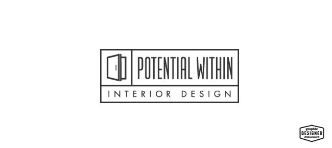 Potential within modern logo design graphic designer for Interior design logo images
