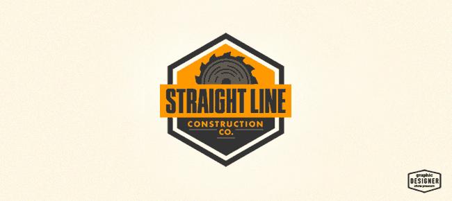 Straight Line Construction Company Construction Logo