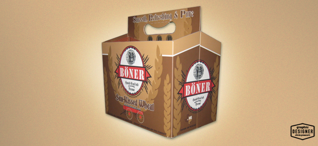 This is a 6 pack beer packaging design.