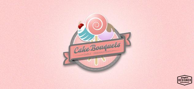 Cake Company Logo Design : Cake Logo   Cake Bouquets   Graphic Designer Chris Prescott