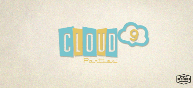 Retro / Vintage Logo Design for Cloud 9 Parties created by Graphic Designer Chris Prescott