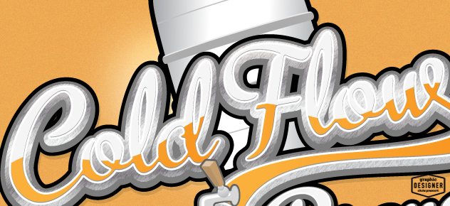 Close up of a keg, beer tap, beer logo design