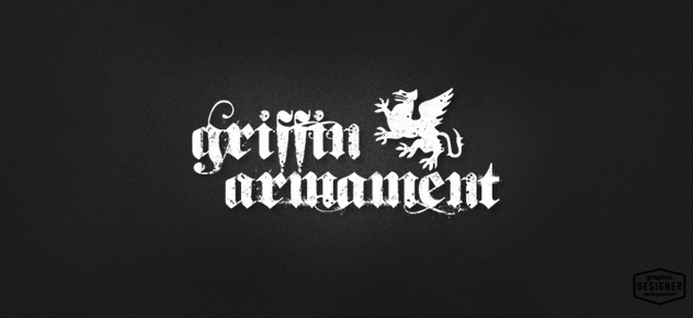 Official Griffin Armament logo,  distressed logo design