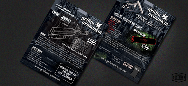 Distressed Flyer Design For Griffin Armament