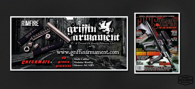 Griffin Armament Magazine Ad - Guns and weapons for law enforcement.