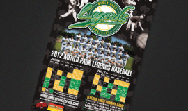 menlo parks legends baseball poster