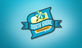 North Shore Parasailing logo / branding design