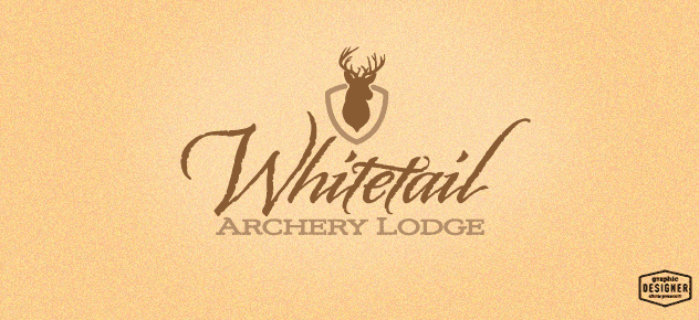 Logo Design of a whitetail deer, hunting logo design