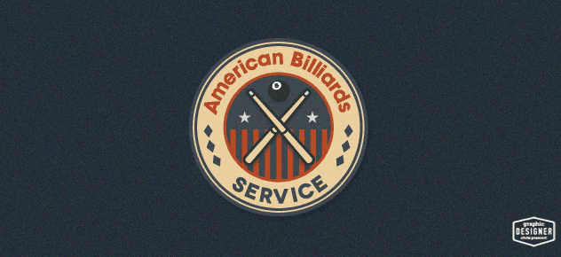 Retro / vintage logo design for a Colorado billiards company. Logo graphic design by Milwaukee Graphic Designer Chris Prescott.