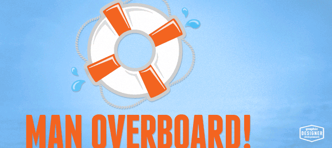 man overboard  u2022 water safety logo  u2022 graphic designer chris