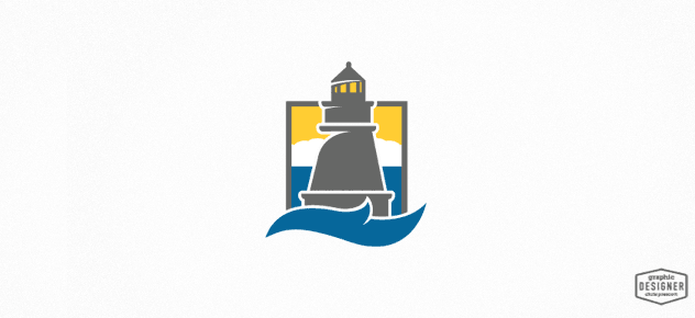 Logo Design for an engineering firm featuring a retro / vintage lighthouse illustration