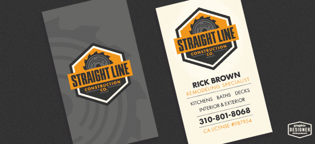 Retro / Vintage business card design for a construction company.