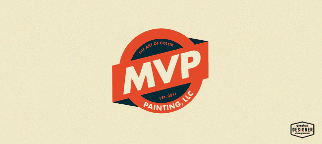 MVP Painting LLC Is A Badge Style Retro Logo Design For Company