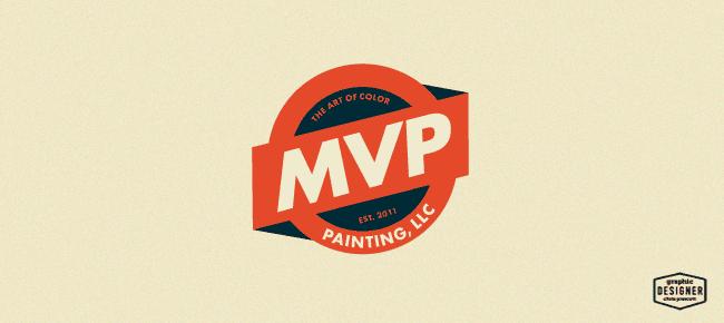 MVP Painting Business Logo Design Graphic
