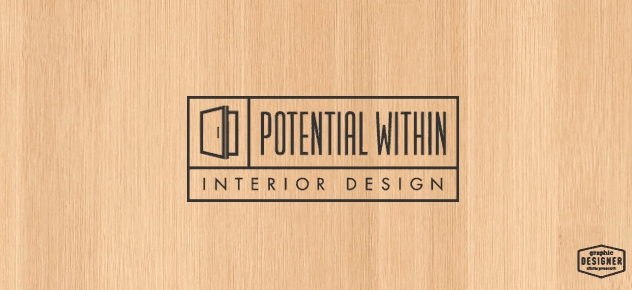 Modern Logo / Branding design by Milwaukee Graphic Designer Chris Prescott. Logo features a modern door and wooden background as texture.