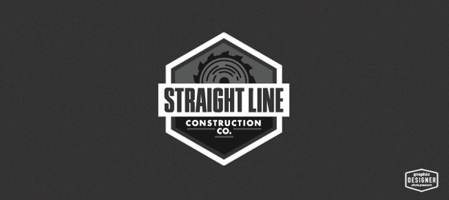Straight Line Construction Company Construction Logo