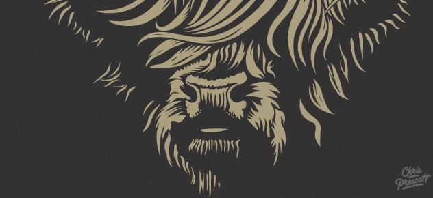 wood type western logo  u2022 argyll ranch  u2022 graphic designer