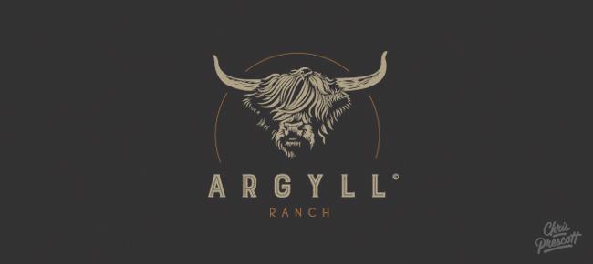 Wood Type Western Logo Argyll Ranch Graphic Designer